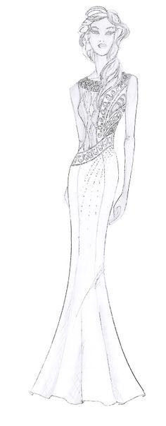 fashion sketch  by Caroline Weinberger