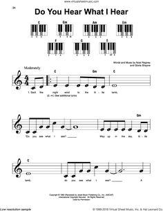 Shayne Do You Hear What I Sheet Music For Piano Solo Pdf