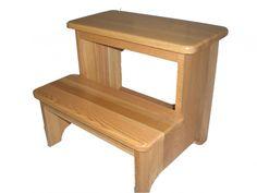 Oak Hardwood 2 Step Stool