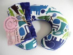 Blue Zoo Baby Toddler Childrens Neck Pillow with Matching Car Seat Strap Covers