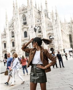 June Sixty Five x Reiko Fall Winter, Autumn, Ootd, Leather Skirt, Hipster, Instagram, Skirts, Style, Fashion