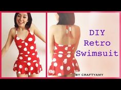 Check out my tutorial on how to make a cute retro pin up swimsuit! :D