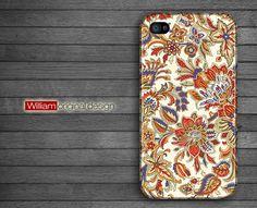 iphone 4 case iphone 4s case iphone 4 cover  classical  flower Illustration printing beautiful original design. $19.90, via Etsy.