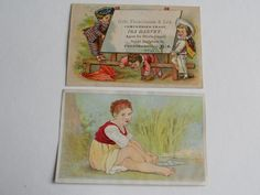 2 VICTORIAN TRADE CARDS/ IRA HARVEY PROVIDENCE, AND GOLD DUST WASHING POWDER #43
