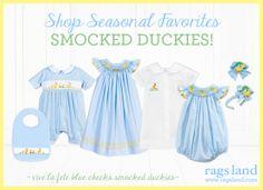 Our Vive La Fete Smocked Duckies Collection! Shop NOW at www.ragsland.com & follow Ragsland on Instagram!