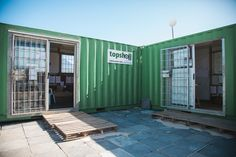 Our standard office containers are spacious and secure. Perfect for construction sites. Availalble at Topshell Containers, South Africa. Shipping Container Office, Burglar Bars, Site Office, Container Conversions, Mobile Office, Storage Facility, Self Storage, Office Workspace