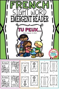 Perfect for French Immersion and for new French students of any age. Black and white, class-set size. Learning French For Kids, French Language Learning, Teaching French, Spanish Language, Learning Spanish, Learn French Beginner, French For Beginners, French Flashcards, French Worksheets