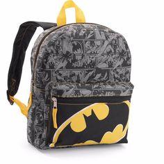 """Batman 12"""" Mini Comic Backpack NEW + Batman Keychain Backpack Charm #DCCOMICS #Backpack"""