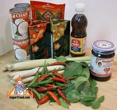 Thai Cafe Kit $27.95 mix of fresh Thai herbs with ingredients to make a delicious authentic tom yum soup, tom kha soup, Thai green curry and red curry. price includes 2 day shipping!