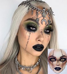 Are you ready for the idea of Halloween makeup looks? let's take a look at the best Halloween make-up we have. All Halloween costumes are included. Halloween Makeup Witch, Amazing Halloween Makeup, Witch Makeup, Halloween Eyes, Scary Makeup, Halloween Makeup Looks, Zombie Makeup, Halloween Costumes, Halloween Zombie