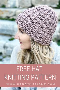 How to knit a hat with step by step instructions. If you are new to knitting, this project is a fantastic first pattern for you to try out. Knit with straight needles, the hat is knit flat then seamed. An easy unisex beanie pattern. #howtoknitahat #hatpattern #beaniehatpattern #beanie #hat #beginnerknitting Baby Knitting Patterns, Knit Hat Pattern Easy, Easy Knit Hat, Beanie Knitting Patterns Free, Beanie Pattern Free, Knit Hat For Men, Baby Hats Knitting, Crochet Hats, Knitting Ideas