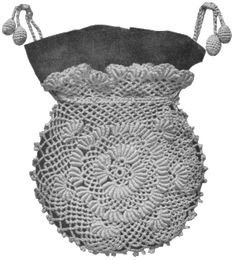 20 FREE Crochet Patterns That Use The Unique Bullion Stitch: Bullion Stitch Thread Crochet Victorian Bag Free Pattern Crochet Bowl, Crochet Art, Thread Crochet, Knit Or Crochet, Irish Crochet, Vintage Crochet, Crochet Flowers, Free Crochet, Crochet Patterns