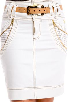 White Fashion, Denim Fashion, Womens Fashion, Estilo Jeans, Africa Dress, Vogue Knitting, Classic Skirts, Denim Outfit, Jean Skirt