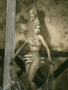 """vintagegal: """" """" Josephine Baker in costume for the Ziegfeld Follies of 1936 """" """""""
