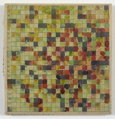Stephen Dean, Untitled (Crossword), 1994,  watercolor on newsprint,  4 x 4 1/2 inches (10.2 x 11.4 cm).