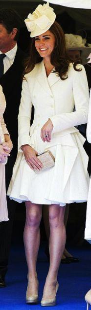 Kate Middleton wearing Alexander McQueen for Garter Day.