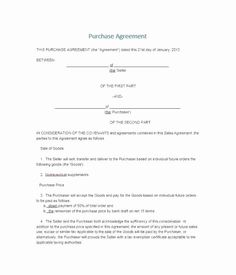 Contract Of Sale Template Unique 37 Simple Purchase Agreement Templates [real Estate Business] Contract Agreement, Purchase Agreement, Purchase Contract, Business Sales, Real Estate Business, Retainer Agreement, Real Estate Contract, Document Sign