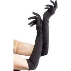 Black Long Gloves available online. Wide selection of gloves and burlesque outfits. White Costumes, Black Costume, Flapper Costume, Costume Wigs, Long Gloves, Black Gloves, Burlesque Outfit, Thing 1, Glamour