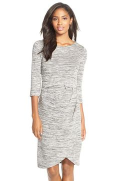 French Connection French Connection 'Splinter' Cotton Jersey FauxWrap Dress available at #Nordstrom
