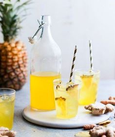 The perfect icy drink to beat the heat, #pineapple #ginger #icetea by…