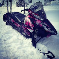 My Sled! Arctic Cat XF 1100 Snowmobile with pink wrap kit