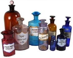 Nothing but apothecary bottles for sale here...CrolAndco