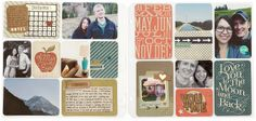 Picture My Life™ scrapbook page journaling highlights from the 1st year of marriage. The calendar on this layout is from the Cricut® Artbooking cartridge and was sized down to fit on the card.