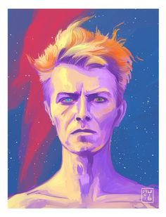 """Aurelio Lorenzo: """"Planet Earth is blue, and there is nothing I can do"""" My late #DavidBowie tribute @Sketch_Dailies"""