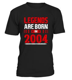 Perfect Birthday Gift for people who are born in 2004. 13 years old 13th Birthday Gift Legends Are Born In 13 T Shirt, This tee truly is a Perfect 13th Birthday Gift as for girls as for boys . TIP: If you buy 2 or more (hint: make a gift for someone or team up) you'll save quite a lot on shipping. Guaranteed safe and secure checkout via: Paypal | VISA | MASTERCARD Click the GREEN BUTTON, select your size and style. ▼▼ Click GREEN BUTTON Below To Order ▼▼ THA...
