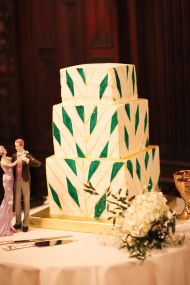 Emerald + Gold Art Deco Wedding - Style Me Pretty