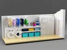51 Ideas For Kids Room Lego Display Lego Display, Lego Modular, Lego Design, Lego Friends, Lego Ninjago, Lego Kitchen, Instructions Lego, Casa Lego, Lego Furniture