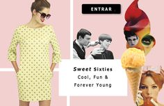 Sixties ♥  Cool, Fun & Forever Young ♥  Check the dresses here >> http://aleksandragerasimets.com/collections/sixties #dresses  #sixties #fashion