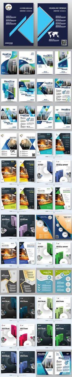 Brochure flyer template design54