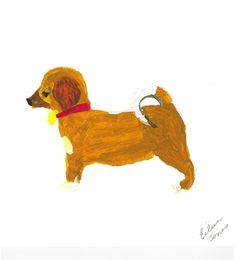 Title: Hot Dog painting Artist / Scheme: Eileen Jones / Blackham House Medium: Acrylic