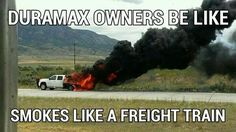The only way to get black smoke out of a duramax Truck Quotes, Truck Memes, Car Memes, Truck Humor, Car Quotes, Chevy Jokes, Ford Jokes, Cool Trucks, Big Trucks
