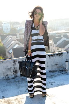 Maxi stripes, maxi dress