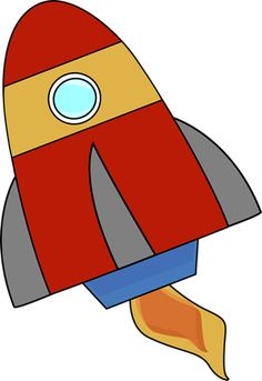 free clip art of a cute red retro space rocket sweet clip art rh pinterest com