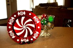 Peppermint Candy Decorative Charger Plate By Rkacreations On 8 00 Diy Christmas Crafts