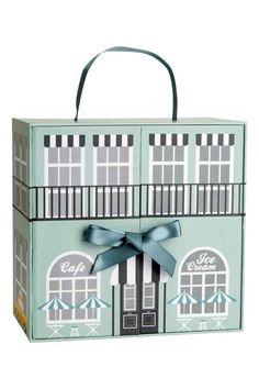 Kartonnen poppenhuis - Mintgroen/dessin - HOME | H&M NL