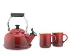 Le Creuset Tea Kettle & Mug Set #williamssonoma