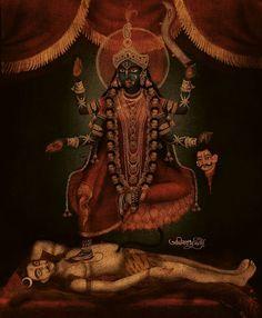 Kalike parameshwari... Patachitra Artist. Avinab Mukherjee from Kolkata ,india
