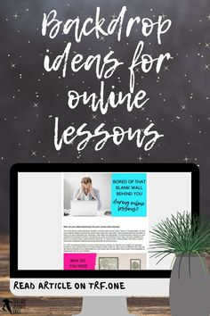 Tired of that blank wall behind you during online calls? Or are you someone who scrambles to tidy up your background before an online call to make sure it looks presentable? Backdrops can actually be a lot of fun and can make your online lessons with your students that extra bit more special too! #distancelearning #remotelearning #onlinelessons #backdropideasforlessons Free Teaching Resources, School Resources, Teacher Resources, Online Lessons, Teacher Blogs, Classroom Decor, Distance, School Ideas, Tired