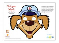 Find this Uncle Skipper face mask in our Pip Ahoy! activity section on iChild.
