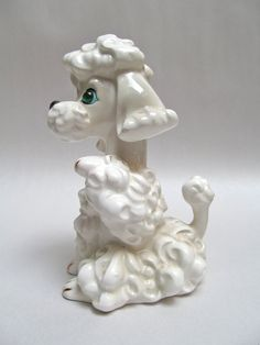 Sweet Retro Poodle Figurine via Etsy