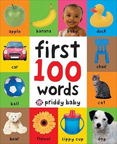 First 100 Words. Toys for Girls, Toys 1 year old, this is toys Learning English For Kids, Toddler Learning, Learning Toys, Learning Spanish, Spanish Activities, Early Learning, Preschool Learning, Toddler Toys, Learning Activities