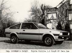 Press Photo Toyota Corolla Coupe GT (TE71) from Netherlands