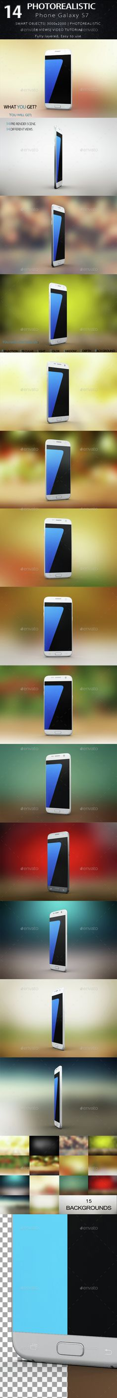 Smartphone Galaxy s7 Mock Up — Photoshop PSD #samsung galaxy s7 #galaxy s7 mockup new • Available here → https://graphicriver.net/item/smartphone-galaxy-s7-mock-up/15189095?ref=pxcr