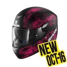 Casco Shark Skwal Hiya Black/Pink/Black Mat HE5439EKVK. Donde comprar cascos de moto integral Shark SKWAL Hiya Negro/Rosa/Negro Mate Led