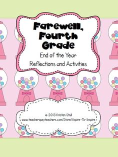 $ Encourage upper elementary students to thoughtfully reflect on the school year with a variety of activities! Included in the file are the following activities: Surveys; Letter to New Fourth Graders Template; Create-Your-Own Top 10 Tips for Fourth Grade Poster; Make the Grade: A Guide to School Success (student-written!); Nuggets of Knowledge Template and Sample Bulletin Board with Instructions; and Our Favorite Episodes from Fourth Grade Timeline Activity and Template.