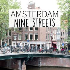 """The Nine Streets in Amsterdam are must visit streets. Your Little Black Book knows the must visit places. Including hotspots, restaurants, shops, bars and more. PIN DESCRIPTION: Planning a trip to Amsterdam? Check http://www.yourlittleblackbook.me/ & download """"The Amsterdam City Guide app"""" for Android & iOs with over 550 hotspots: https://itunes.apple.com/us/app/amsterdam-cityguide-yourlbb/id1066913884?mt=8 or https://play.google.com/store/apps/details?id=com.app.r3914JB"""